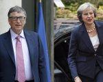 Bill Gates e Theresa May