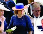 Beatrice e Eugenie e seus pais, os príncipes Andrew e Charles