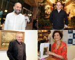 Em sentido horário: Alberto Hiar, Renato Aguiar, Miriam Mamber e Antônio Bivar