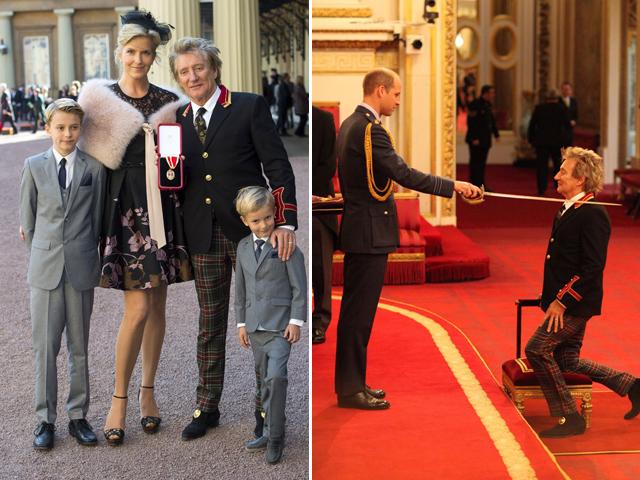Rod Stewart foi ordenado cavaleiro pelo príncipe William