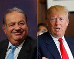 Carlos Sli Helú e Donald Trump