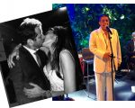 Paula Mesquita Marinho e Miguel Pinto Guimarães se beijam durante a festa de casamento e Zeca Pagodinho solto a voz e animou os convidados!