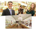 João Paulo Ferreira, vice-presidente comercial da Natura; Lucienne Gatti, gerente de novos canais da Natura; nova loja no Shopping Pátio Paulista