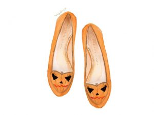 Charlotte Olympia celebra Halloween com versão abóbora de sua Kitty Flat