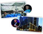 Clinton e o Javits Center, e Trump e o New York Hilton, em NY