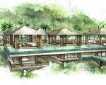 Croqui do projeto de David Bastos nas Ilhas Seychelles