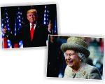 Donald Trump e a rainha Elizabeth II