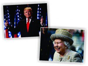 Britânicos já se movimentam para reunir Trump com a rainha Elizabeth II