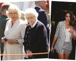 Camilla e Elizabeth II, e Medghan Markle