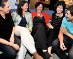 Miriam Mamber entre os filhos Liora Zucker, Diana Wolanski, Débora Mamber e Ricardo Czeresnia