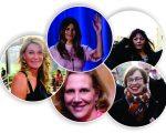 No sentido horário: Melania (topo), Desislava, Doris, Sylvia e Bia