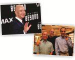 Jeff Bezos e os irmãos José Roberto, Roberto Irineu e João Roberto Marinho