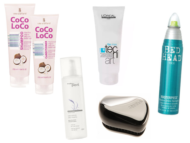 Shampoo e condicionador , Spray de Pentear, Gel fixador, Spray Fixador, escova