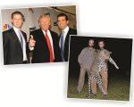 Donald Trump entre os filhos, Donald Jr. (esquerda) e Eric (direita)