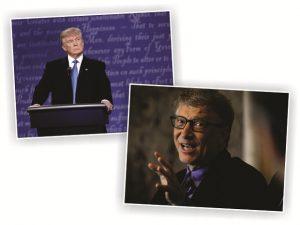 Em contato telefônico, Trump e Bill Gates falam sobre o meio ambiente