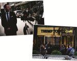 Agentes do Serviço Secreto cercam a Trump Tower, em NY
