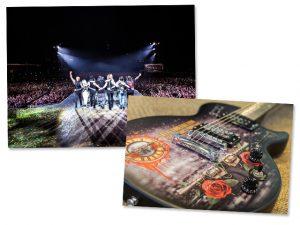 Guitarra usada por Slash em show de Guns N' Roses no Brasil vai a leilão