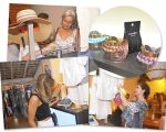 Convidados conferem de perto a seleção especial de acessórios e beachwear que a Amaro trouxe para a Casa Glamurama Trancoso