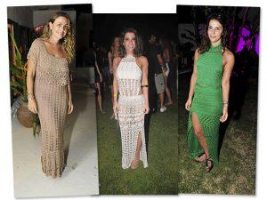 Vestido de crochê é escolha certa das glamurettes em Trancoso