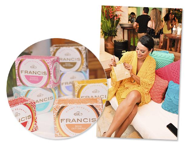 Alinne Rosa com seus sabonetes Francis || Créditos: Paulo Freitas