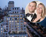 Gisele e Tom Brady, e uma imagem do 70 Vestry, em NY
