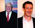 Warren Buffett e Mark Zuckerberg