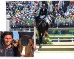 Na imagem maior, Doda montando Cornetto K, na Rio 2016, e Zorzi com o cavalo