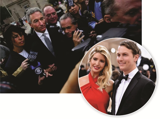 Charles Kushner, em 2005, e Jared Kushner com Ivanka Trump || Créditos: Getty Images