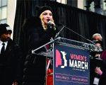 Madonna discursa durante a Marcha das Mulheres