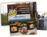 O outdoor com a foto de Melania, na entrada de Novo Mesto, e os produtos inspirados nela