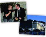 O produtor Harvey Weinstein e Tarantino, e o hotel onde eles estão hospedados