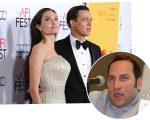 Angelina e Brad, e o jornalista Ian Halperin