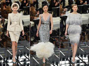 Alta-costura da Chanel marca a cintura e faz ode ao tailleur