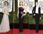 Emma Stone, Amy Adams e Evan Rachel Wood no red carpet do Globo de Ouro 2017