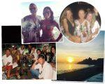 Lenny com Paula Bezerra de Mello; a aniversariante com Chris Corchs e a filha