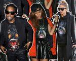 Kanye West, Rihanna e Nicole Richie com a peça hit da Givenchy