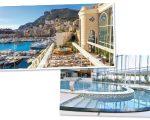 Fachada e uma das piscinas do Spa Thermes Marins Monte-Carlo