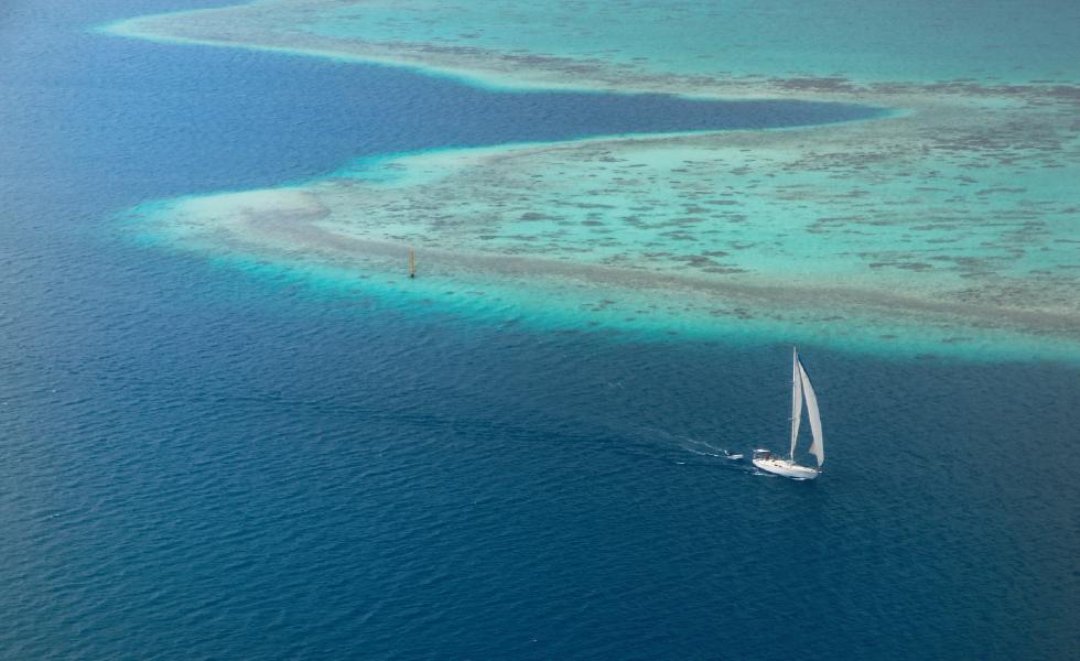 O mar de Bora Bora, só vendo para acreditar. || Créditos: Pico Garcez