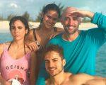 Tatá, Bruna, Paulo e Thales: diversão no Caribe