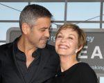 George Clooney com a mãe, Nina