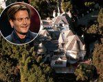 A mansão de Depp em Hollywood Hills, em Los Angeles