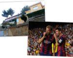 A casa de Messi em Barcelona, e o argentino com o colega Rakitic