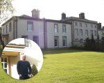 A 'Melling Manor' e, no detalhe, o designer Dunstan Low
