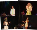 No palco: Chico Buarque, Maria Bethânia, Fernanda Abreu e Rosemary