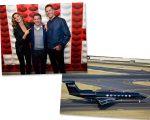 Gisele e Tom com Kevin Plank, e o jatinho do bilionário