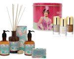 Detalhe da fragrância Tropicália, da linha Vintage Granado, e da coleção Melindrosa