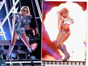 Figurino de Lady Gaga pela Versace no Super Bowl é comparado a de David Bowie