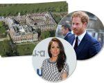 Vista aérea do Palácio de Kensington, onde Harry e Meghan estão