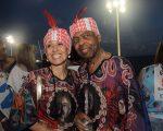 Flora e Gilberto Gil no Camarote Expresso 2222, em Salvador