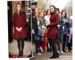 Kate Middleton em 2012 (foto à esquerda) e nesta quarta-feira
